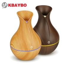 KBAYBO electric humidifier aroma oil diffuser ultrasonic wood grain air humidifier USB mini mist maker LED light for home office цена и фото