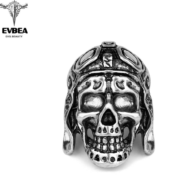 Black Friday Hottest Rock Roll kpop Silver Gothic Punk Skull Big Adjustable Rotating Bikers Bible Rings Mens & Boys Jewelry