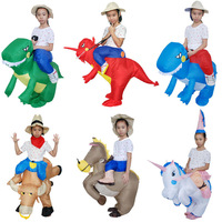 Funny Cosplay Halloween Party Jumpsuit Costumes Inflatable Party Unicorn Anime Fancy Dress Horse Ride Clothes Toys For Children