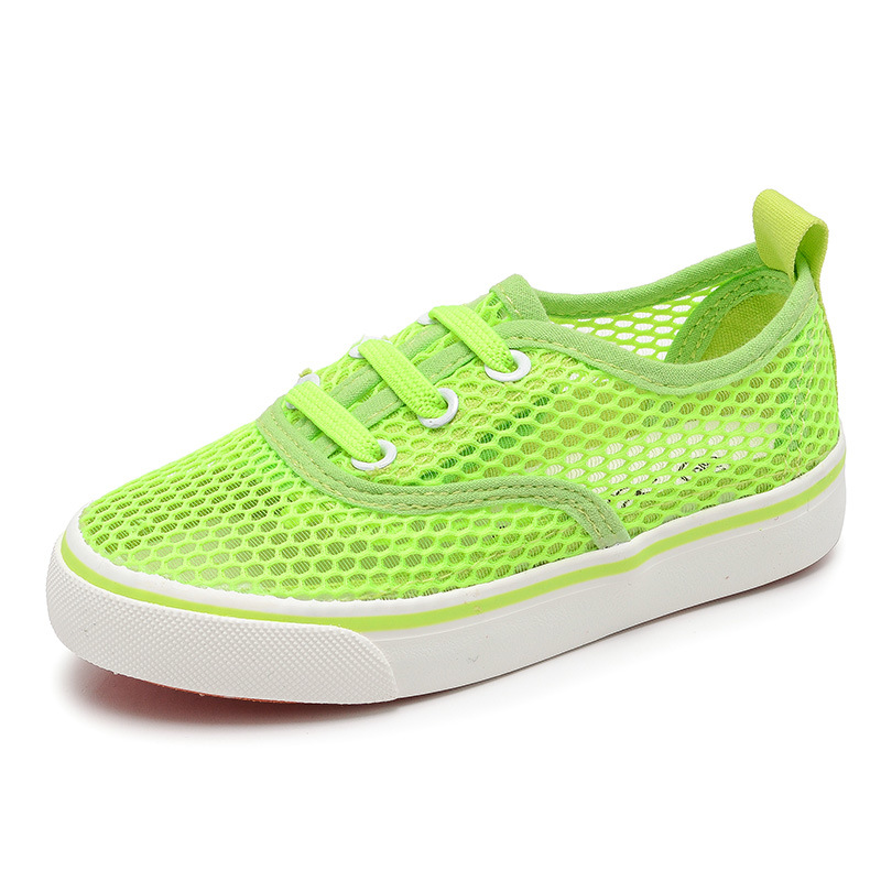 Casual Shoes Girls Sneakers 2018 Summer Boys Shoes Breathable Air Mesh Kids Shoes Canday Color Childrens Sneakers Girls Shoes