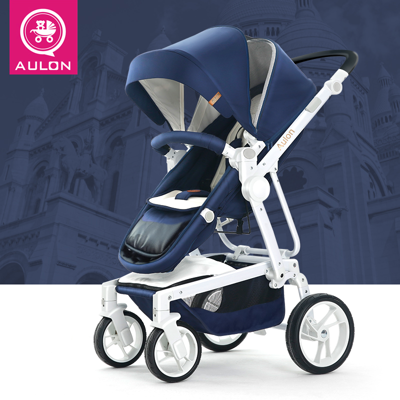 Aulon Baby Stroller 2018 New 10KG Baby Buggies Pink Dark Blue Winter Pram Moms Stroller Infant Girl Gift Light Weight Stroller double stroller red pink blue color twins infant stroller sale kids sleep comfortable more at ease sophisticated technologies