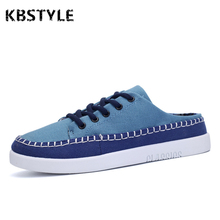 kbstyle 2017 Summer Breathable Men's Canvas Shoes Linen Low Top Men Casual slippers Zapatos de Hombre Male Footwear Fashion