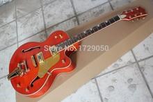 2015 chinesischen Fabrik Benutzerdefinierte neue beste qualität Grets ch 6120 Orange E-gitarre mit Bigsby Tremolo 917