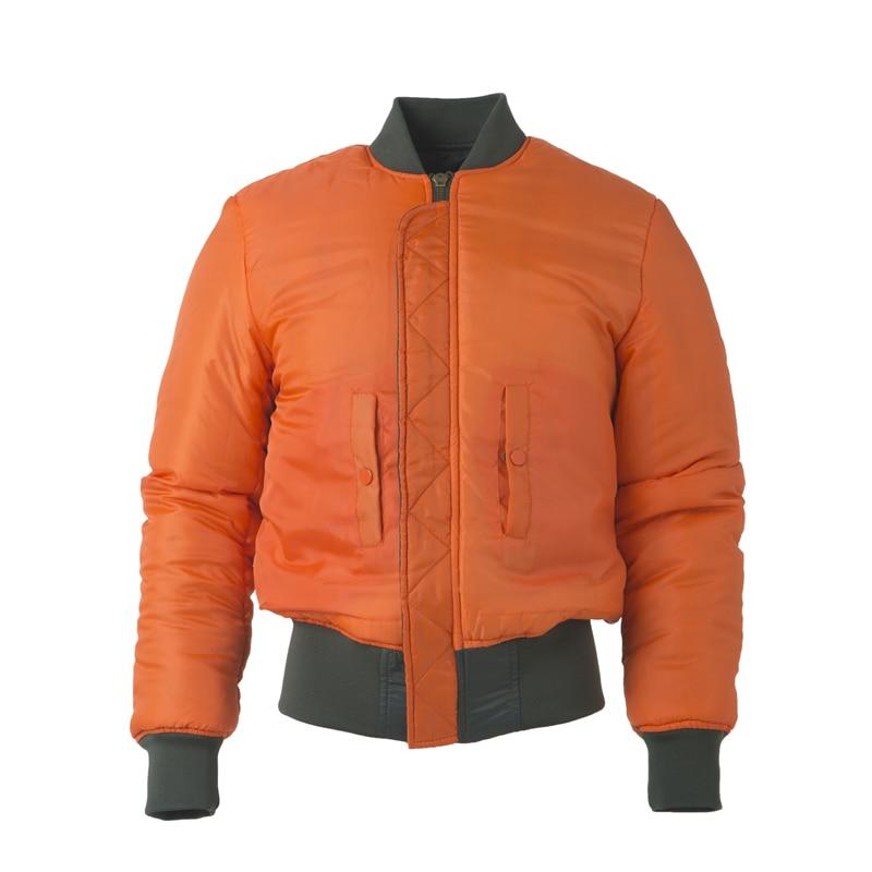 Image 2 - Plus Size US Air Force Pilot Ma1 Bomber Flight Jacket Men hip hop  padded Letterman Winter Waterproof Nylon puffer red women coatflight  jacket menbomber flight jacketsflight jacket