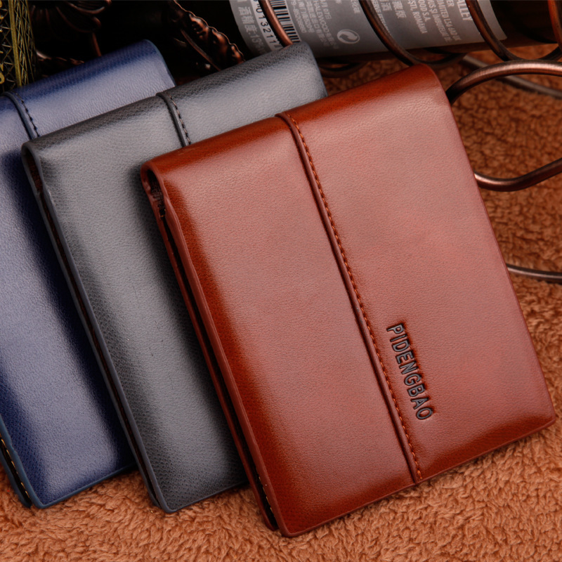 High quality Leather men's Wallets purse leather short leather wallets ,Fashion brand wallet,  Free Shipping