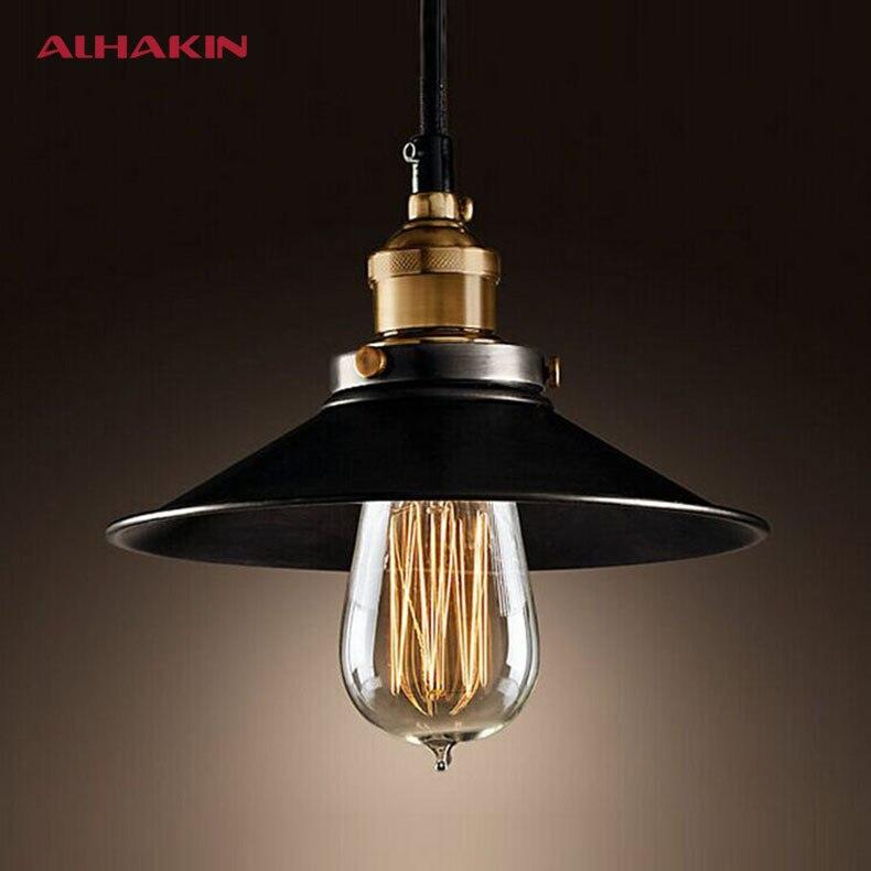ALHAKIN Loft Style Dia 22cm Pendant Light Black Vintage