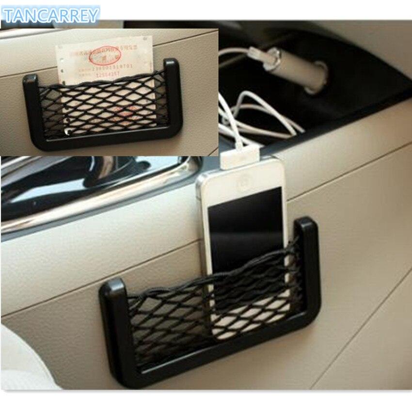 Горячие автомобильные аксессуары автоматическое хранение сетчатый карман для volvo v50 v60 v70 opel corsa toyota aygo renault clio citroen c1 peugeot 207
