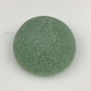 Image 5 - Konnyaku esponja de limpeza facial, ferramenta essencial de limpeza suave para cosméticos de konjac, carvão e bambu, 1 peça
