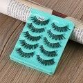5 Pares/set Deslumbrante Maquiagem Handmade Bagunçado Cruz Natural Cílios Postiços Eye Lashes Extensão Ferramentas Encantador de Moda de Nova Melhor