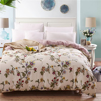 100% Cotton Duvet Cover American Country Style Floral Print Quilt Cover Twin Queen King Size Bed Linen Super Soft Bedspread