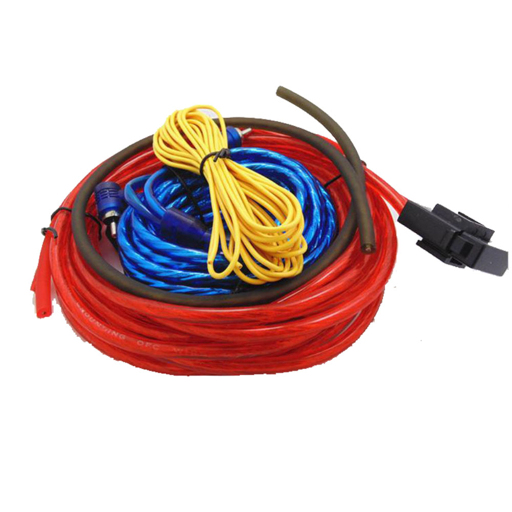 hot sales car audio wire wiring amplifier subwoofer speaker installation wires cables kit 60w 4m. Black Bedroom Furniture Sets. Home Design Ideas