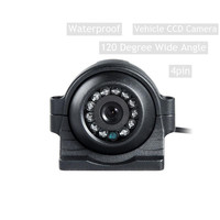 Wide Angle 4PIN 700TVL Metal Waterproof Back Side / Front View Reverse Backup Car Duty Camera for Heavy Bus Truck Van