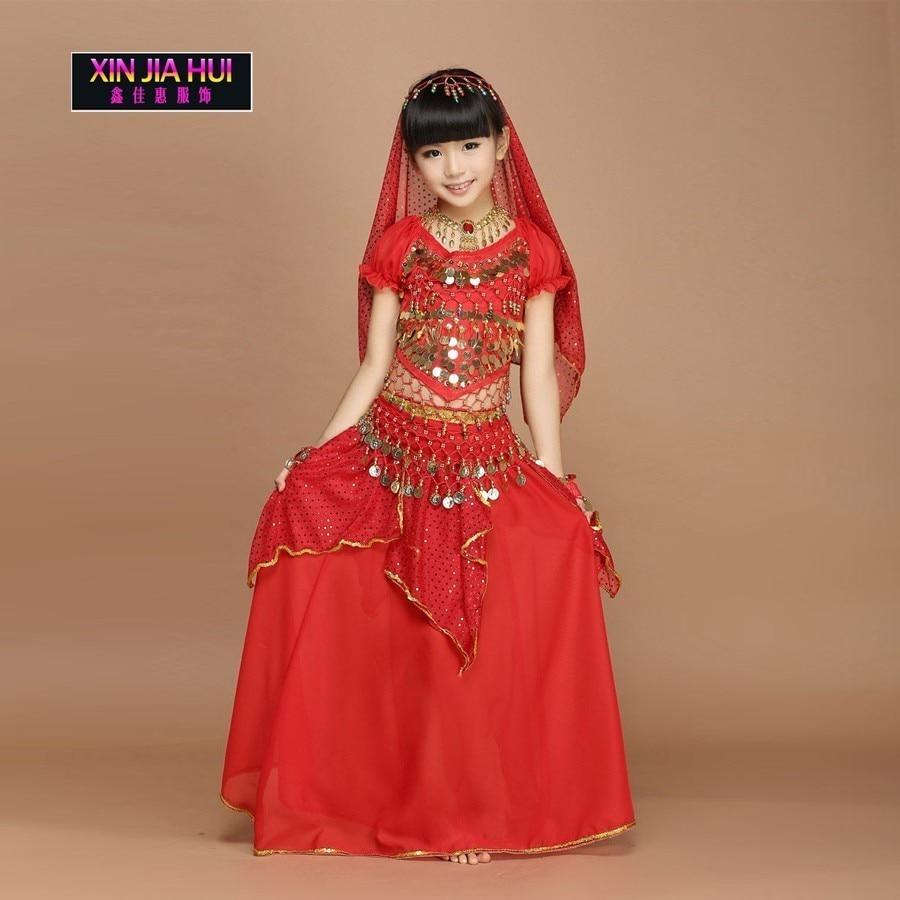 Goedkope Chiffon Children's Feestelijke Kostuum Set Buikdansshow voor - Nieuwe items