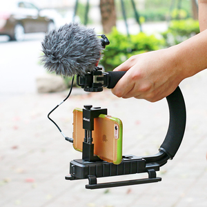 Image 4 - BOYA BY MM1 Condenser Video Recording Microphone on Camera Vlogging for iPhone Samsung Canon DSLR Zhiyun Smooth 4 Stabilizer