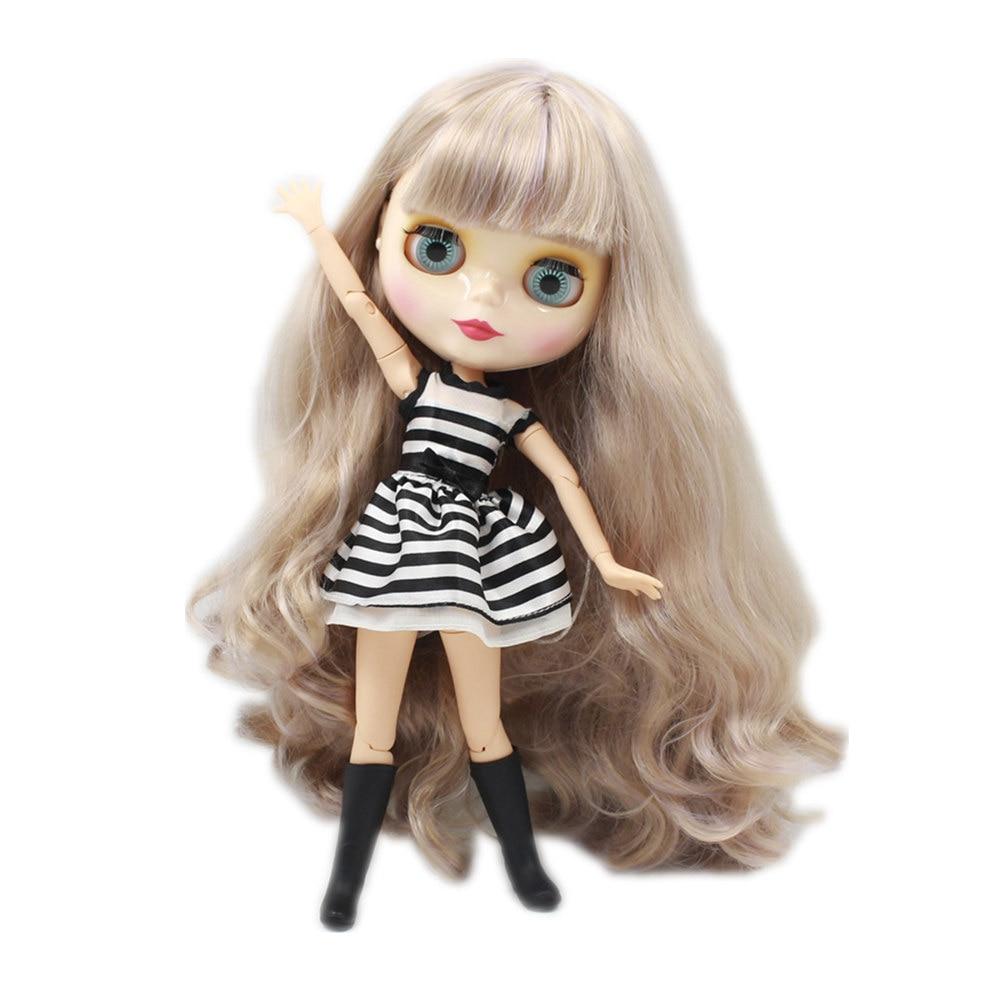 Blyth Nude Doll Joint body Wavy Long Hair with bangs Big Eyes 30cm fashion DIY makeup toys bjd blyth dolls for sale nude blyth doll with joint body long hair bjd 1 6 doll 12 fashion b female blyth dolls diy toys