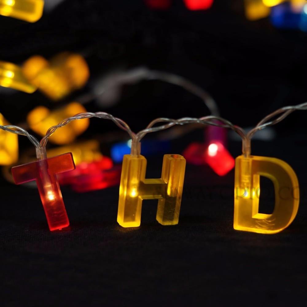 T, Ohne Fernbedienung Bunte Neon Brief Lichter 26 Leuchten Buchstaben f/ür Hochzeit Geburtstag Party Batteriebetriebene Weihnachtslampe Home Bar Schlafzimmer Dekoration