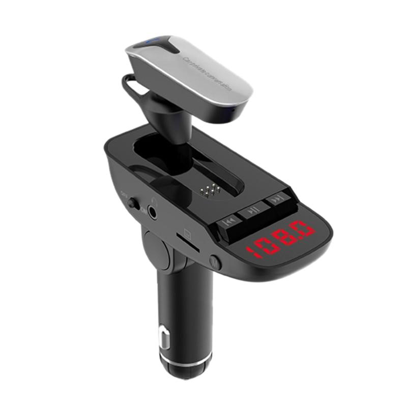 Wireless In-Car Bluetooth Fm Transmitter Mp3 Radio . Car Kit Usb Char Ger