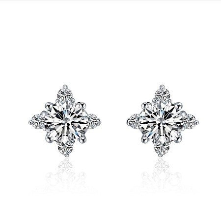 Starlight Stunning 0 6ct Piece Sona Synthetic Diamonds Earrings For Women Top Quality 925 Silver Luxury Color Wedding In Stud From Jewelry