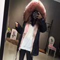 Korean Style Genuine Canada Wolf Fur Women Overcoat My Love from the Star Real Wolf Fur Hood Outerwear Natural Fur Clothing SML
