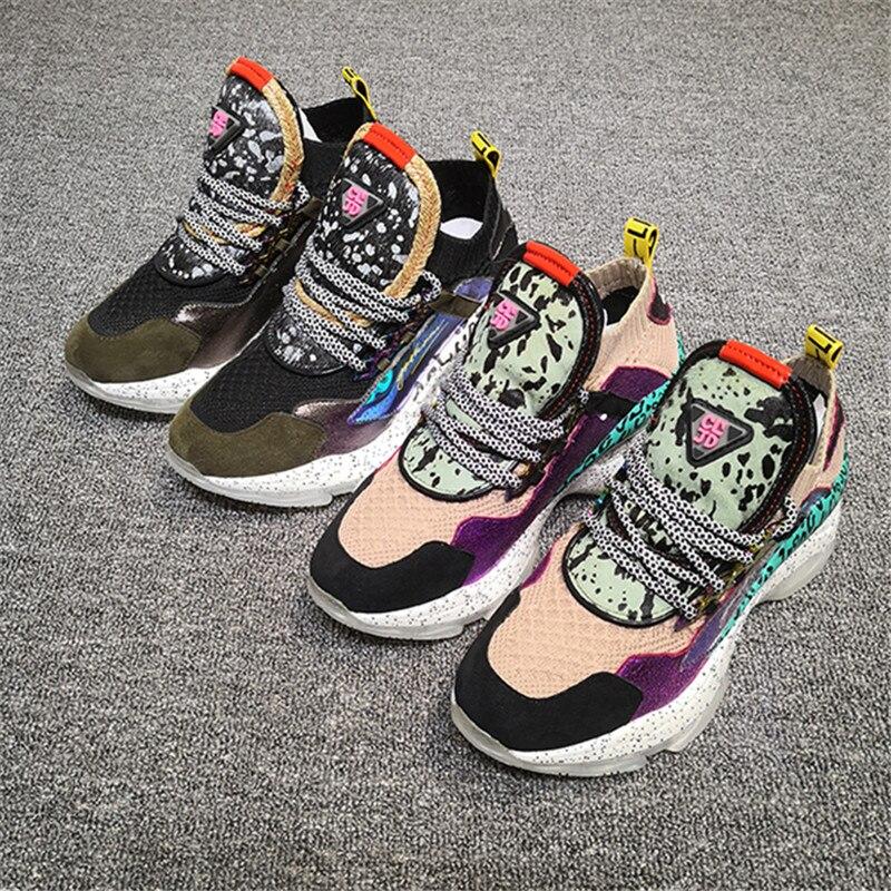 Color Zapatos Ocasionales Plataforma De Alpargatas Mujeres color Mezclado Tenis 01 02 Femenino Planos Creepers Mujer Ystergal Deporte Zapatillas wxFYCqnU8