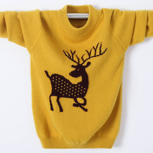 цены Winter High Quality Cashmere Sweater for Kids Pullover Sweater Warm Children Elk Cardigan Boy Girl Wool Sweater Jumper 100-180cm
