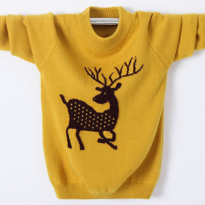Winter High Quality Cashmere Sweater for Kids Pullover Sweater Warm Children Elk Cardigan Boys Wool Sweater Jumper 100-180cm фен щётка panasonic eh ka22