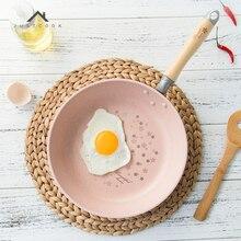 Life83 26CM Японский стиль Сковорода Нет Масляный дым Старинные антипригарные решетки с вишневыми цветами Газовая плита