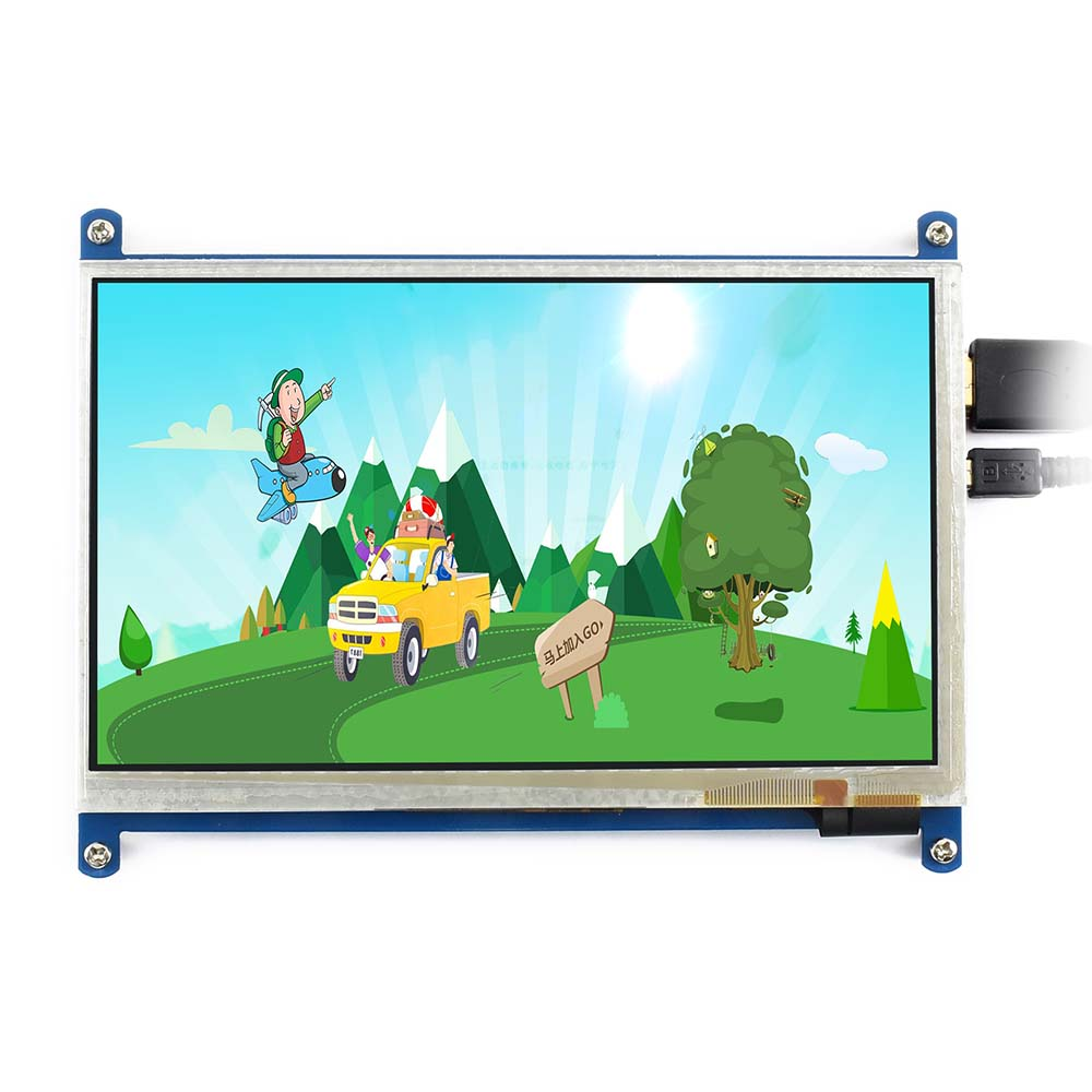 Image 4 - Waveshare7inch HDMI LCD (B) ,800*480, 7'' Capacitive Touch Screen,HDMI interface, for Raspberry Pi,Support Windows10/8.1/8/7-in LCD Monitors from Computer & Office