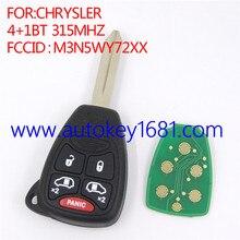 Для chrysler 4 + 1 кнопку 315 мГц FCCID: M3N5WY72XX дистанционного ключа автомобиля