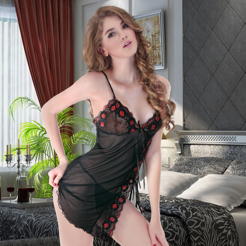 Strapped Shoulder Women Sexy Wear Night Lingerie Set