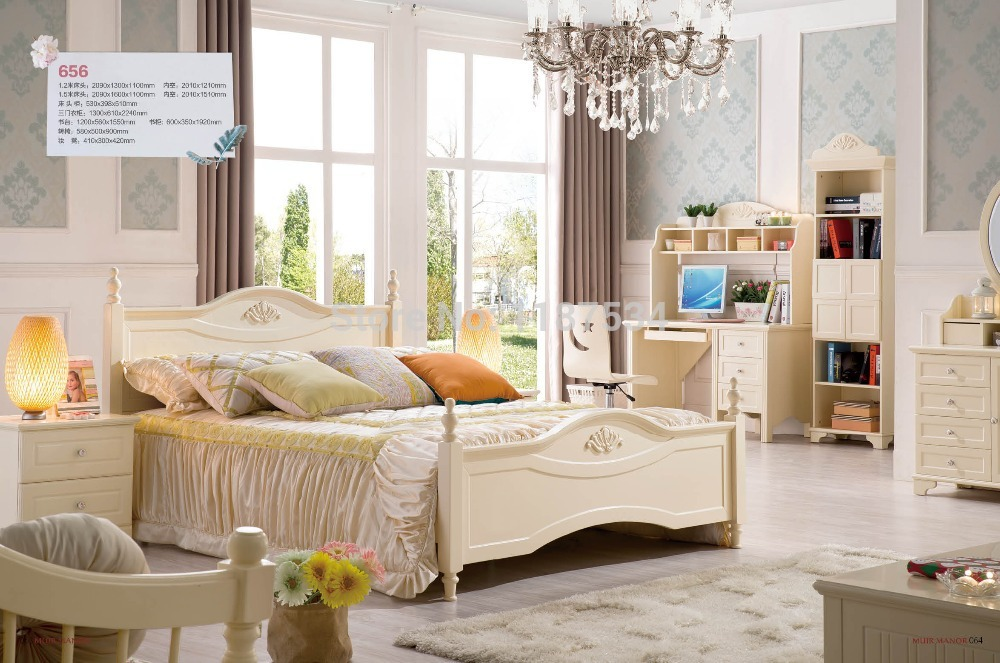 656 Home furniture bedroom furniture princess bed wooden factory price bed 1.5m bed