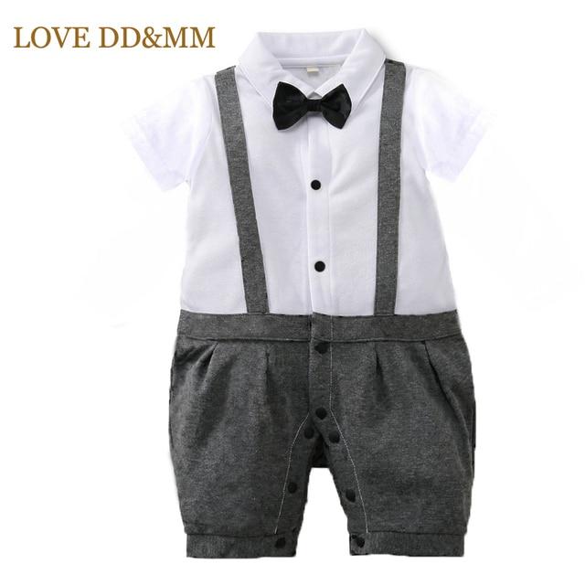 7f67d4de0 € 7.9 20% de DESCUENTO Amor de DD & MM bebé niños ropa de verano de 2019  nuevo estilo británico Casual Caballero Correa arco mono mameluco ...