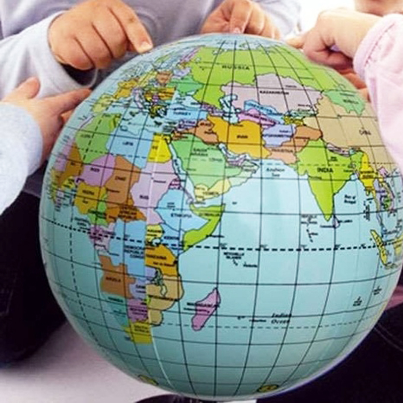 Aerated Inflatable World Globe Ball Earth Tellurion Home Decorative on world globe, map of the volcano, thematic map, map earth's, topographic map, map of the world, printable globe, mappa mundi,