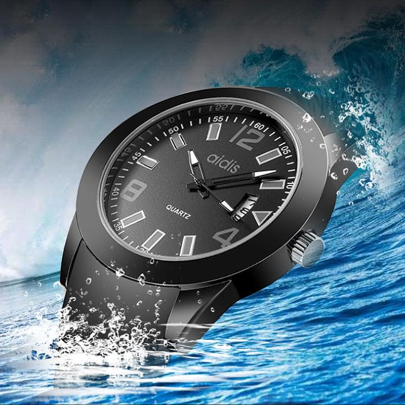 New Brand Silicone Watch Men Sport Boys Fashion Outdoor 30Bar Waterproof Quartz-watches Reloj Hombre Black Wristwatch Casual kids watches children silicone wristwatches doraemon brand quartz wrist watch baby for girls boys fashion casual reloj