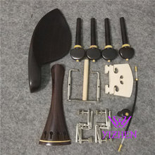 1 Set High quality New ebony violin parts 4/4, tailpiece, chinrest, endpin