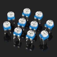 0.1 Вт 50 В горизонтальные 203 20 К Ом синий и белый регулируемый резистор-синий + белый (10 частей)