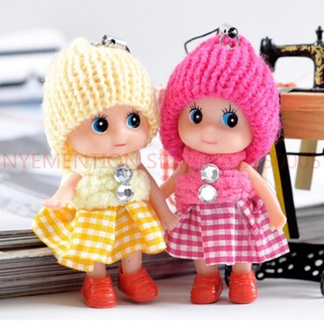Crianças Brinquedo bonito PVC Boneca de brinquedo de Pelúcia do bebê dos desenhos animados da cadeia Chave Chaveiro Cadeia anel chave titular Presente Engraçado 200 pcs