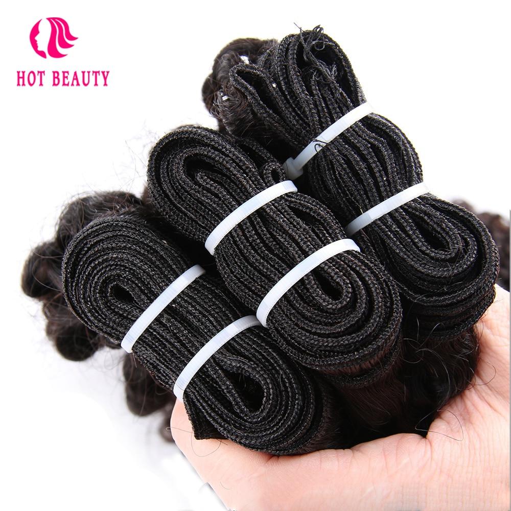 Vroče lepotne lase Afro Kinky kodrasti brazilski Remy podaljški za - Človeški lasje (za črne) - Fotografija 5