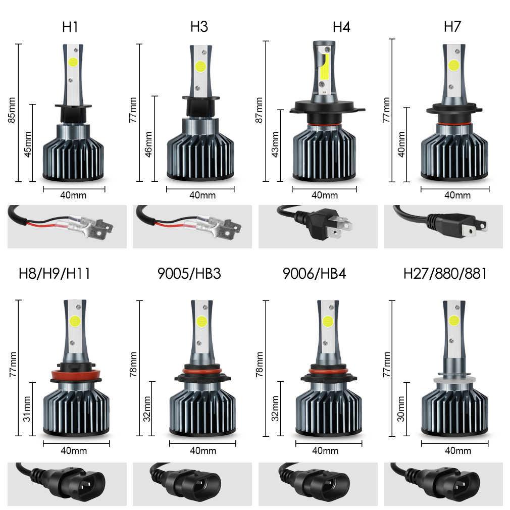 12000LM רכב פנס נורות שגיאת משלוח H4 H7 H11 H1 H3 9005 9006 HB4 HB3 H27 LED מנורות 880 881 72 W 6500 K אוטומטי אורות 12 V 24 V