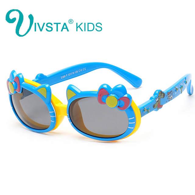 7542f4bf8 IVSTA hello Cat eye Flip Sunglasses Kids Girls Sun Glasses Polarized Cute  Flap Polarized Lenses Pink Color birthday gift 859-in Sunglasses from  Apparel ...