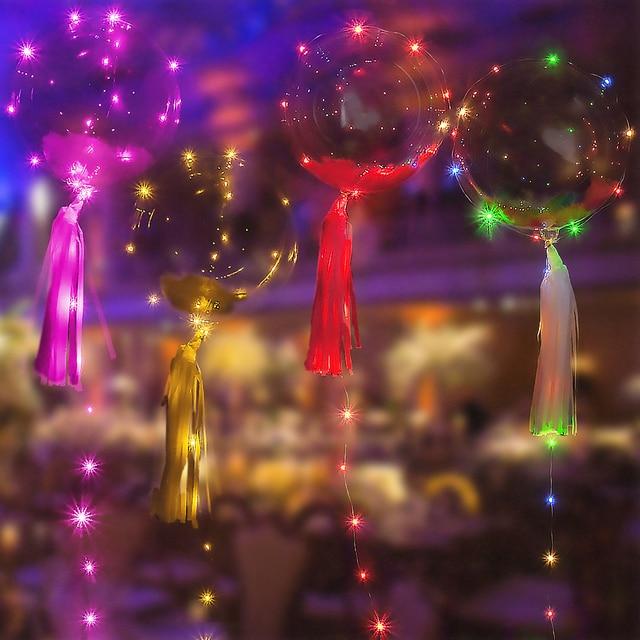 Luminous Led Transparent Balloons Wedding  Inflatable Helium Air Bubble Balls Happy Birthday Party Ballons