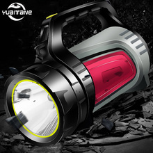 цена на 135000LM High Power Bright LED Searchlight Handheld Portable USB Rechargeable Flashlight Torch Multi-function Long Shots Lamp