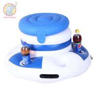 Inflatable Ice Bucket Pool Floats For Adults Drinking Beer Cooler Food floating drinks holder water toys beach party