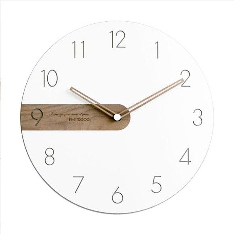 Moderna Semplice Nordic Leggero e di Lusso Orologio Artisti usano orologi di legno Creativo orologi di moda