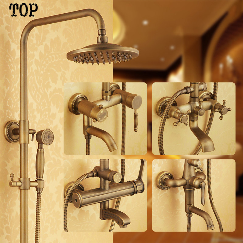 Aliexpress.com : Buy Luxury Bathroom rainfall shower set Antique ...