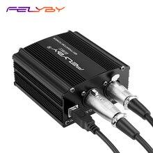FELYBY 48V פנטום כוח לכל הקבל מיקרופון הקלטה