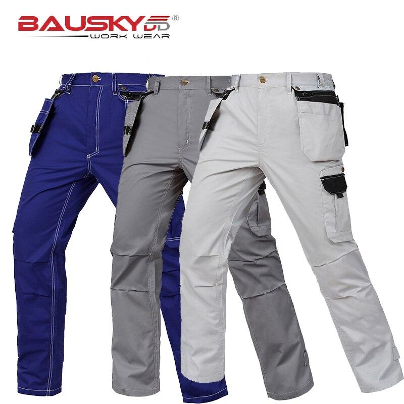 Летние легкие рабочие брюки плотника мужские рабочие брюки