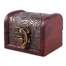 Antique Jewellery Ring Necklace Earrings Bracelet Display Wooden Case Beautiful Women Jewelry Storage Box Case Holder Gift(China)