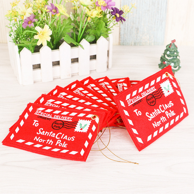 non woven red christmas envelope christmas greeting cards candy bag christmas gifts for friends christmas - Non Photo Christmas Cards