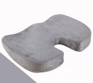 Image 3 - Sitz Kissen Kissen für Büro Stuhl 100% Speicher Schaum Lower Back Pain Relief Konturierte Haltung Corrector für Auto, rollstuhl